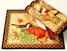 Fall Placemats Quilted Place Mats Table Mats Thanksgiving