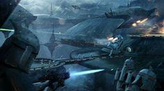 Star Wars Battlefront II early clonetrooper concept art screenshot