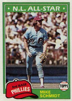 Mike Schmidt # 540 - 1981 Topps Baseball