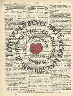 paper love print