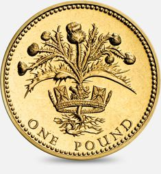 1984 & 1989 Thistle and royal diadem Scotland (One Pound) Coin One Pound Coin, English Coins, Coin Design, Scottish Thistle, World Coins, Rare Coins, Silver Coins, Mint Coins, Coin Collecting