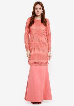 Baju Kurung Crochet Lace - Vercato Atita from VERCATO in pink_1