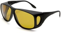 Cocoons Low Vision C202 XL Aviator Polarized Sunglasses,Black Frame/Yellow Lens,one size Cocoons. $49.91