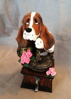 Basset Hound Dog clay sculpture | Flickr - Photo Sharing!