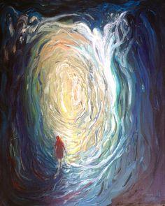 Encounter study acrylic on canvas Wakefield Artist Tim Burton.