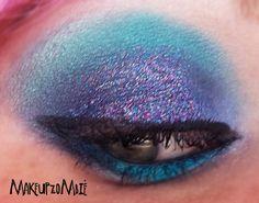 Makeup Zombie:purple and blue glitter!