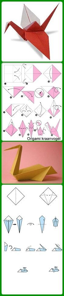 Origami Crane Tutorial Paper Birds 16 Ideas For 2020 Origami Crane Tutorial Paper Birds 16 Ideas For 2019 Origami Diy, Origami Paper Folding, Origami And Kirigami, Paper Crafts Origami, Useful Origami, Diy Paper, Origami Birds, Origami Swan, Oragami