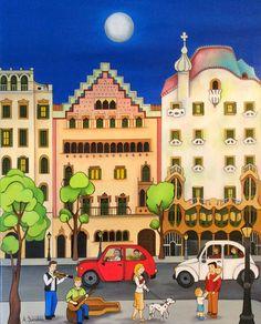 ARTE NAIF: Cuadros naif Henri Rousseau, Art Populaire, Naive Art, Bold Colors, Lovers Art, Graphic Illustration, Folk Art, Cute Pictures, Taj Mahal