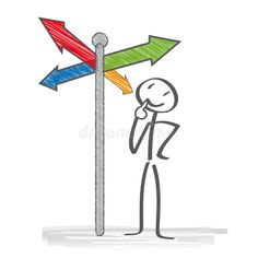 Illustration about Signpost. Stick figure considered at the crossroads. Illustration of education, isolated, arrows - 37521130 Visual Thinking, Design Thinking, Screen Beans, Graphic Organizer For Reading, Storyboard Drawing, Mental Map, Stick Figure Drawing, Sketch Notes, Creative Icon
