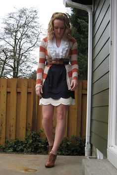 Adore Kaleigha Martin's styling of the Scalloped Clouds skirt!