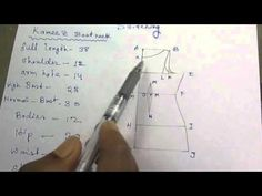 Kameez Drafting/Cutting and Stitching with formula part 1 of 7 hindi Sewing Lessons, Sewing Hacks, Sewing Tutorials, Sewing Patterns, Pattern Drafting Tutorials, Sewing Projects, Tailoring Techniques, Sewing Techniques, Chudidhar Neck Designs