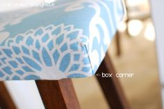 box corner upholstery