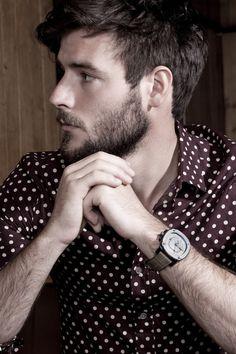 polka dot shirt and fashionable beard . Polka Dot Shirt, Polka Dots, Beard Designs, Mens Fashion, Fashion Outfits, Style Fashion, Fashion Photo, Beard Fashion, Fashion Menswear