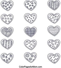 Hearts Coloring Page 11