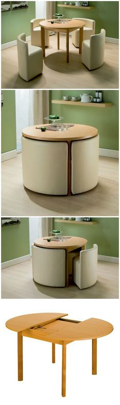 Space-Saving Dining Table & Chairs