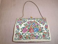 $20.00 Look what I found on @eBay! Vintage French Tapestry Purse with floral motif http://r.ebay.com/ei5N1r