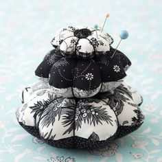 These quick-to-make pincushions are cute enough to give individually or as a towering set of three.