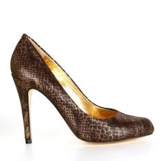 Ted baker womens brown snakeskin court shoes £130.49