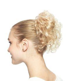 Revlon Swirlz (formerly Bounce) hairpiece Elasticized hair wrap Hair wrap/ scuncie. Curly hairpiece on an elastic band.
