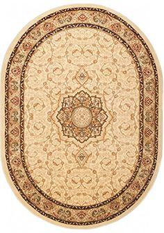 carpeto rugs tapis ovale salon gris