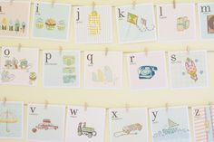 free printable vintage alphabet signs (flash cards) http://www.thehandmadehome.net/freebies/