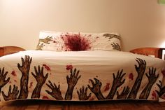 Zombie Sheets! This is creepy - and I'm not even into Zombies - but I think this is cool