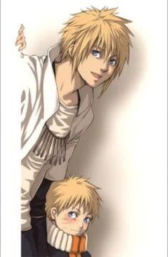 Minato and naruto. I adore this picture <3