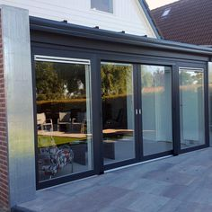 Diy Patio, Patio Doors, Sunroom, Extensions, Sweet Home, New Homes, Houses, Windows, Living Room