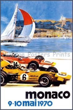 Retro COOL: Vintage #Monaco Grand Prix Art found on @eBay. Click the link to join the auction today! #vintage #spon