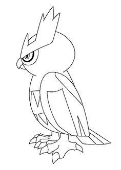 Coloriage du Pokémon hibou Noarfang