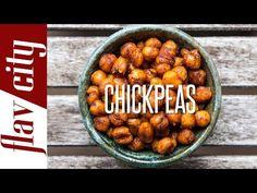 Crispy & Spiced Garbanzo Beans - Easy Snack Recipe - YouTube