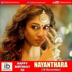 Happy birthday to Nayanthara (18 November) - idlebrain.com