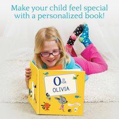 We customize each book just for your child. In our books, letters are brought one by one to spell out your child's first and last name in rhyme! Please browse our award-winning selection of personalized books & gifts that will show your child how special they are! Order today!
