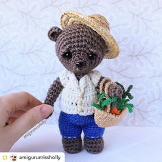Repost from @amigurumissholly:Мишка фермер)) #amigurumissholly #amigurumi #амигуруми #crafts #crochettoys #crochet #вязание #вязанаяигрушка #handmade #lovecrochet #instacrochet #instacraft #игрушки #toys #crocheting #crochetlove #teddy #bear #мишка #мишки #крючком #cute #тедди #вязаныймишка #медведь #мишкиручнойработы #weamiguru #ilovecrochet #мишкитедди by villy_vanilly_shop