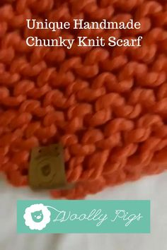 Woolly Pigs || Unique Handmade Knitted items || Burnt Orange Chunky Knit Scarf || Unique designer handmade || Boyfriend style || Looking for inspiration for your sweater style this winter season? Make sure you stand out this season with your own Handmade chunky knit scarf. Winter women's fashion can be competitive but no need to worry I have you covered, with an oversized, boyfriend style, chunky knitted scarf! #chunkyknitscarf #streetstyle #knitwearfashion #winterwomensfashion… Knitwear Fashion, Cozy Fashion, Women's Fashion, Handmade Clothes, Handmade Crafts, Handmade Items, Wooly Pig, Hand Knitting, Knitting Patterns