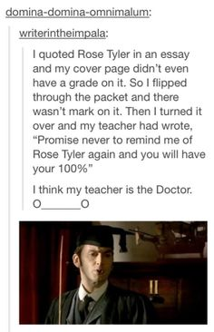 Promise never to remind me of Rose Tyler again and you will have your 100%.