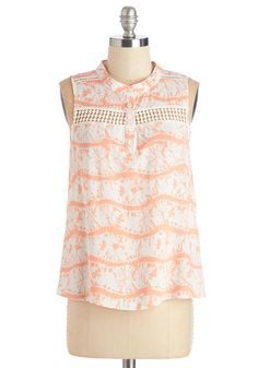 cd35932d4eefc Top. One thing thats for certain - youre looking and feeling sweet as you  stop for a frozen treat in this printed top!  multi  modcloth