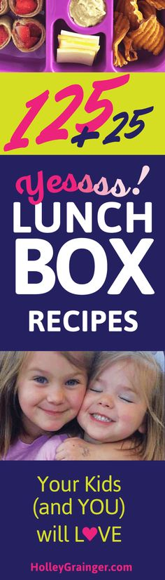 """Get the jump on the """"school lunch"""" routine with dozens of easy-to-pack lunchbox ideas.   125 FREE Lunchbox Recipes"""