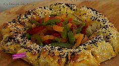 Köz patlıcanlı simit böreği