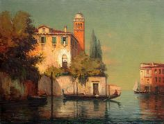 """Beautiful view of the Laguna of Venice"" signed Georges Noel Bouvard…"