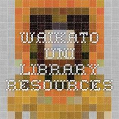 Waikato uni library resources