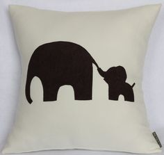 Mommy and Me Mom and Baby Elephant  Off white  Pink and by Petette, $25.00