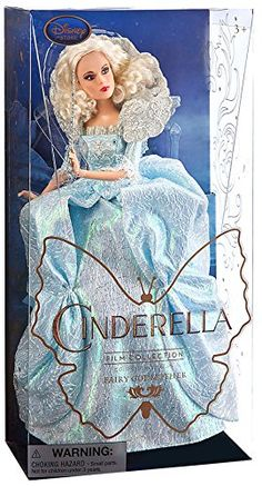 Disney Original - Princess Cinderella Film 2015 / Sammler Kollektion - Fairy Godmother / Gute Fee - Exclusive 28cm Puppe