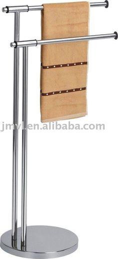 Stainless steel standing towel rack,bathroom rack