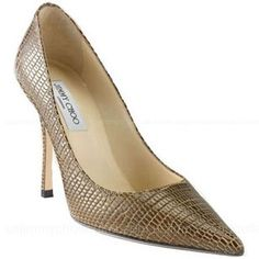 Jimmy Choo Lilac Embossed Leather Pumps -$197