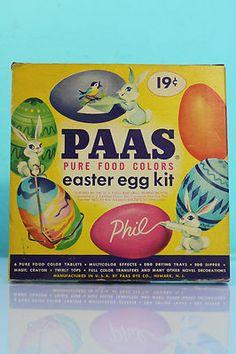Vintage 50's Paas Easter Egg Color Kit Dipper Holders Transfers Original Box | eBay #oldtoysandcollectables #vintagetoys #colors
