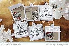 Hello! Today the Mama Elephant Design Team is showcasing the awesome new Retro Holiday Labels Stamp Set. This gorgeous stamp set is perfect for creating greetings on cards or labels. I've paired several of the greetings with the Union Square...