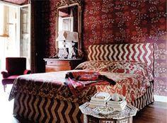 Milan-based textile designer and decorative painter Idarica Gazzoni