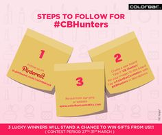 #ContestAlert #CBHunters  Make sure you follow these rules to participate.   #Contest #Pinterest #Makeup #Easter #Hunt #Pretty #Beauty #Fashion #India  Terms & Conditions: http://bit.ly/CBHuntersTandC