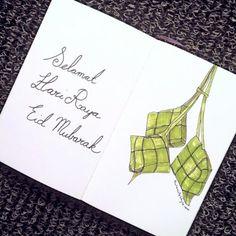 Wishing all my Muslim friends Selamat Hari Raya and Eid Mubarak. Sketch of the day no 667 in my moleskine art journal: ketupat raya